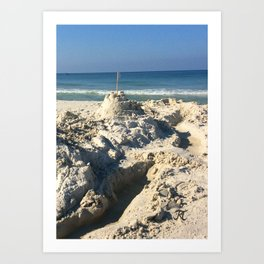 Castle in the Sand Art Print
