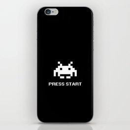 Press Start 8 bit alien iPhone Skin