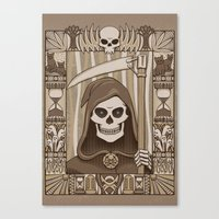 discworld Canvas Prints featuring COWER BRIEF MORTALS by Doodle Dojo