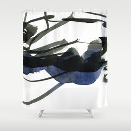 gestural abstraction Shower Curtain