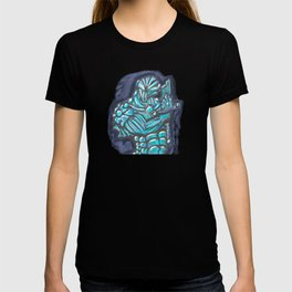 Cyberpunk Power Armor Android with Broken Sword T-shirt