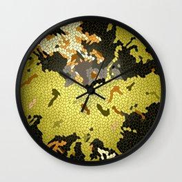 Abstract leaves mosaik Wall Clock