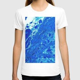 Blue Marble Paint T-shirt