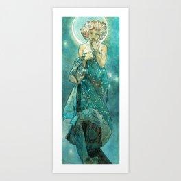 Alphonse Mucha Moonlight Art Nouveau Art Print