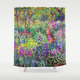Claude Monet Garden in Giverny Shower Curtain