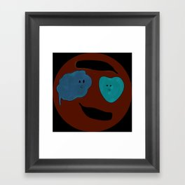 Head and Heart Framed Art Print