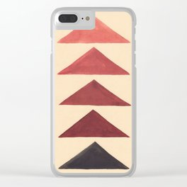 Brown Geometric Triangle Pattern With Black Accent Clear iPhone Case