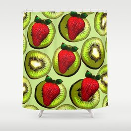 KIWI AND STRAWBERRY COCKTAIL Shower Curtain