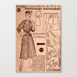 1950's vintage sewing pattern VIII Canvas Print