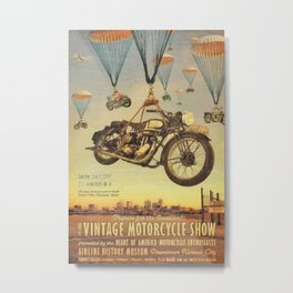 Vintage Motorcycle Show Poster Metal Print