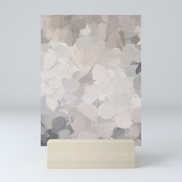 Neutral Beige Gray Sand Desert Ground Aerial Earth Abstract Nature Painting Art Print Wall Decor  Mini Art Print