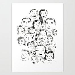 Face Group Art Print