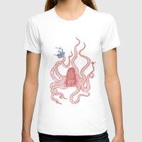 kraken T-shirts featuring Kraken by Andrew Henry