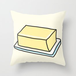 Butter Throw Pillow