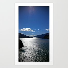 (#22) The Morning Sun reflects off The Columbia Art Print