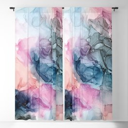 Heavenly Pastels: Original Abstract Ink Painting Blackout Curtain