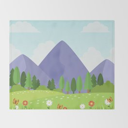 Nature landscape moutain Throw Blanket