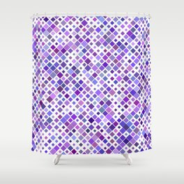 Purple Squared Shower Curtain