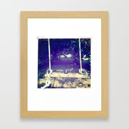 Domo on Swing Framed Art Print