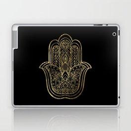 Lotus Gold Hamsa Hand Laptop & iPad Skin