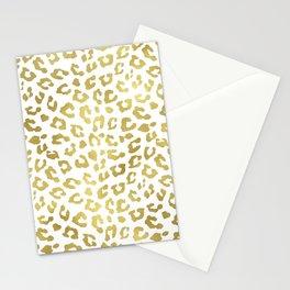 Glam Gold Cheetah Animal Print Stationery Cards