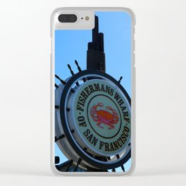 Fisherman´s Wharf Sign Clear iPhone Case