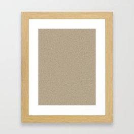 Khaki Brown Saturated Pixel Dust Framed Art Print