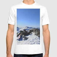 Mt Tallac MEDIUM Mens Fitted Tee White