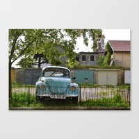 volkswagon Canvas Prints featuring Vintage Volkswagon by JessOli