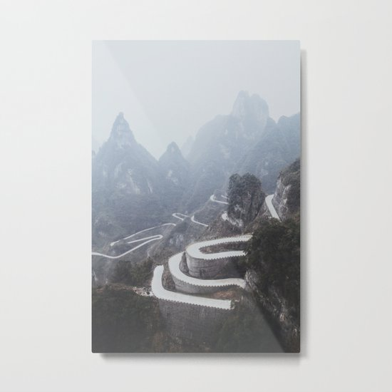 Tianmen Mountain II Metal Print