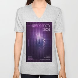 New York City Diesel v2 Unisex V-Neck