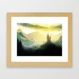 The Mountain Pass Framed Art Print