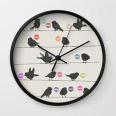 Birdsong_Gosh by Garima & Rachel  Wall Clock