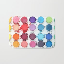 Messy Watercolors Bath Mat