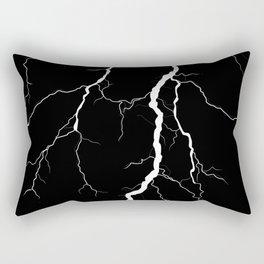 Lightning (Black & White) Rectangular Pillow