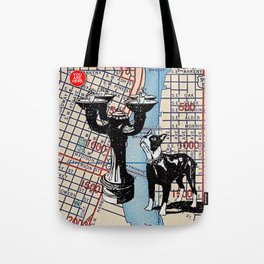 Benson Bubbler drinking fountain, S.W. Broadway and Oak Street, You Are Here, Portland. Tote Bag