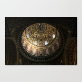 Budapest - Inside the Dome of the Cathedral Canvas Print