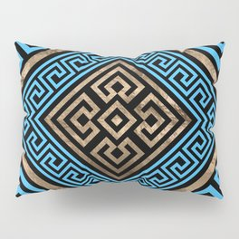 Greek Key Ornament - Greek Meander -Rhombus #2 Pillow Sham