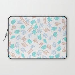 Modern pastel brown teal watercolor brushstrokes pattern Laptop Sleeve