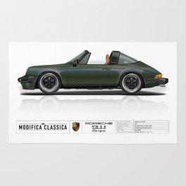 Porsche 1978 911 SC Targa Oak Green Metallic Rug