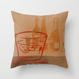 Mid Century Modern Bar Still Life Throw Pillow