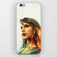portrait iPhone & iPod Skins featuring When the Sun Came Up by Alice X. Zhang