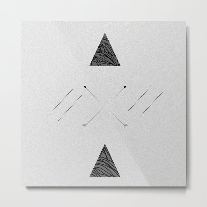 Arrows laced with Noise Metal Print