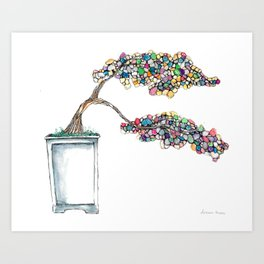 Bonsai Tree of Hope Art Print
