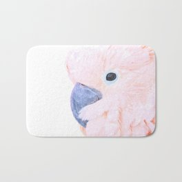 Pink Cockatoo Portrait Bath Mat