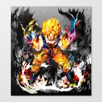 goku Canvas Prints featuring Goku by ururuty