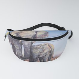 Elephants Mom Baby Fanny Pack