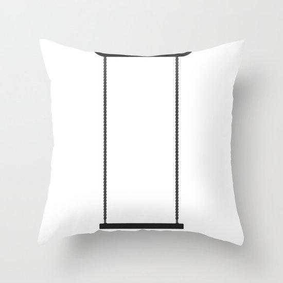 High swing Throw Pillow
