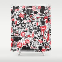 western Shower Curtains featuring Western Pattern by lanewera