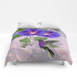Hummingbird and Morning Glory Comforters